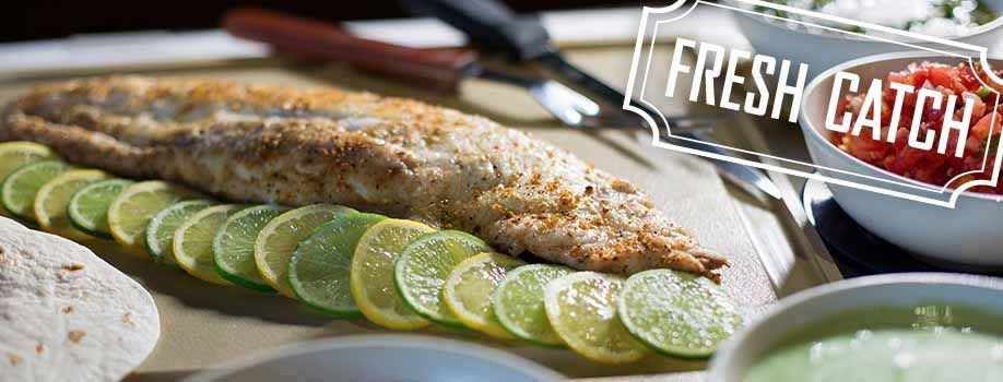 Enjoy our fresh fish catch of the day at Bahama Breeze.
