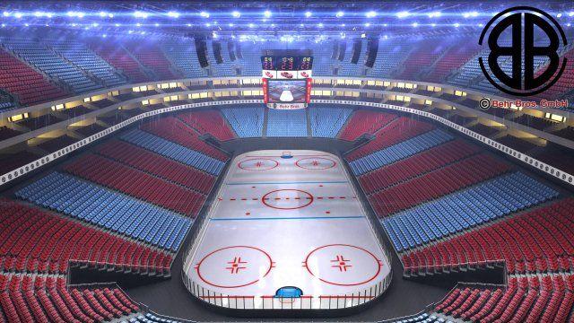 Ice Hockey Arena V2 3d Model Max C4d Obj 3ds Fbx Lwo Stl 3dexport Com By Behr Bros Hockey Arena Ice Hockey Ice Hockey Rink