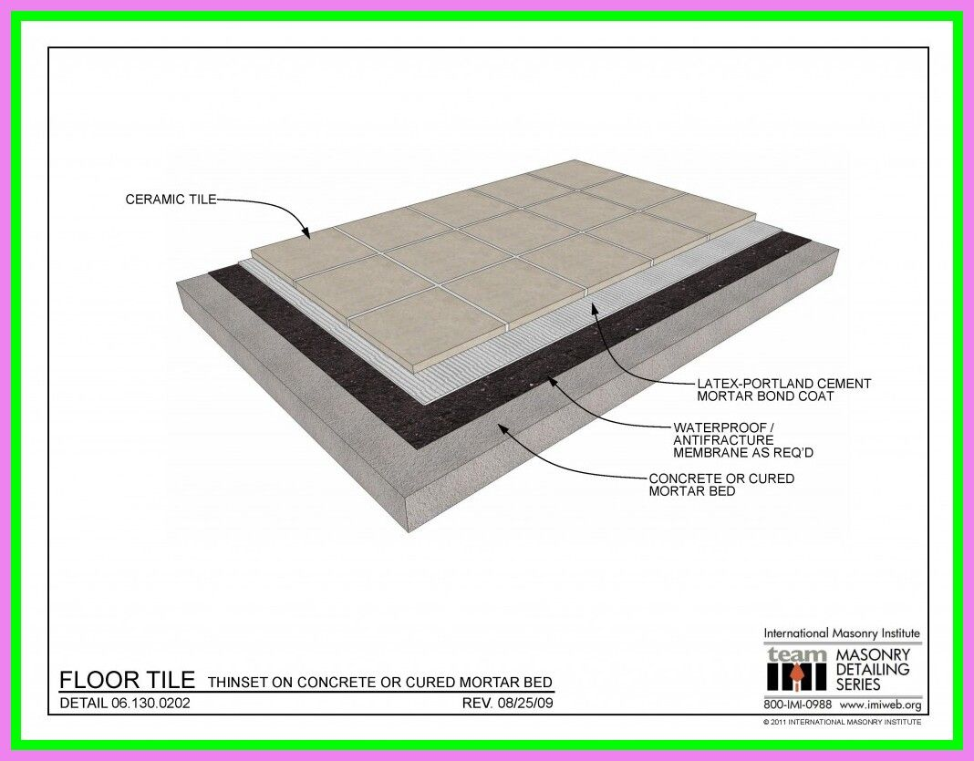 5 reference of floor tile bed thickness in 5  Tile floor