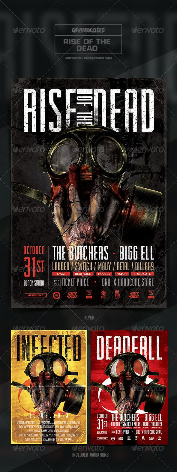 Zombie FlyerPoster  Template Flyer Template And Party Flyer
