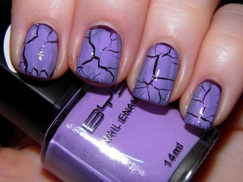 Crackle Nail Polish Violet Ideas For Unique Girl Inspiration