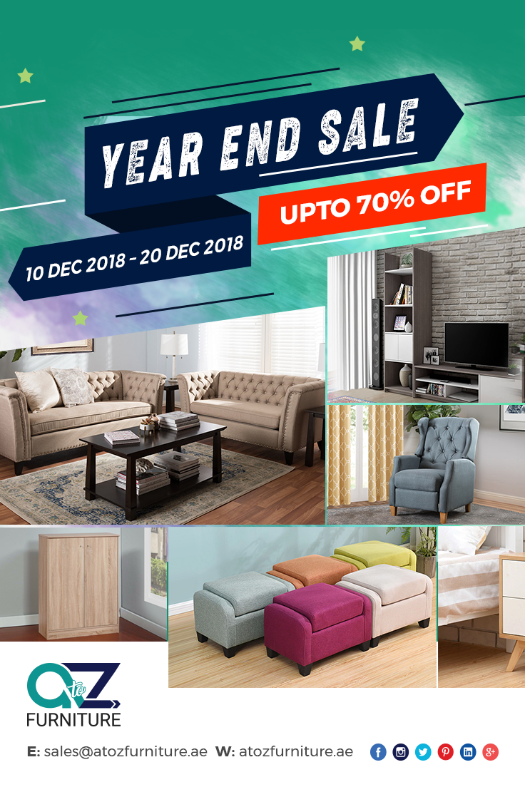 A To Z Furniture The Year End Sale Is Back Get 70 Off On Your Favorite Furniture And Household Products Visit Https Furniture Furniture Deals Home Decor