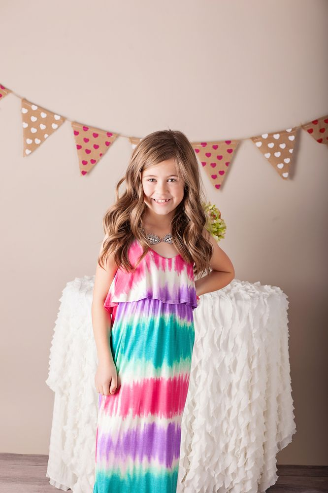 Ryleigh Rue Clothing by MVB - Girls Tie-Dyed Splash of Spring Maxi, $32.00 (http://www.ryleighrueclothing.com/dresses/girls-tie-dyed-splash-of-spring-maxi.html/)