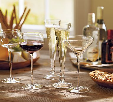 I WANT THESE!!!!  Scale Stemware, Set of 6 #potterybarn
