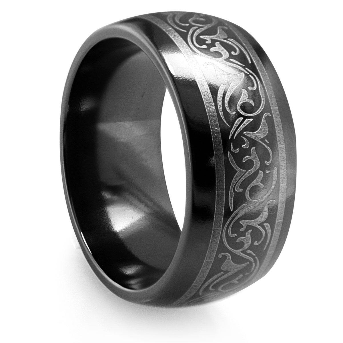 Black Titanium Wedding Bands 2 Black titanium ring