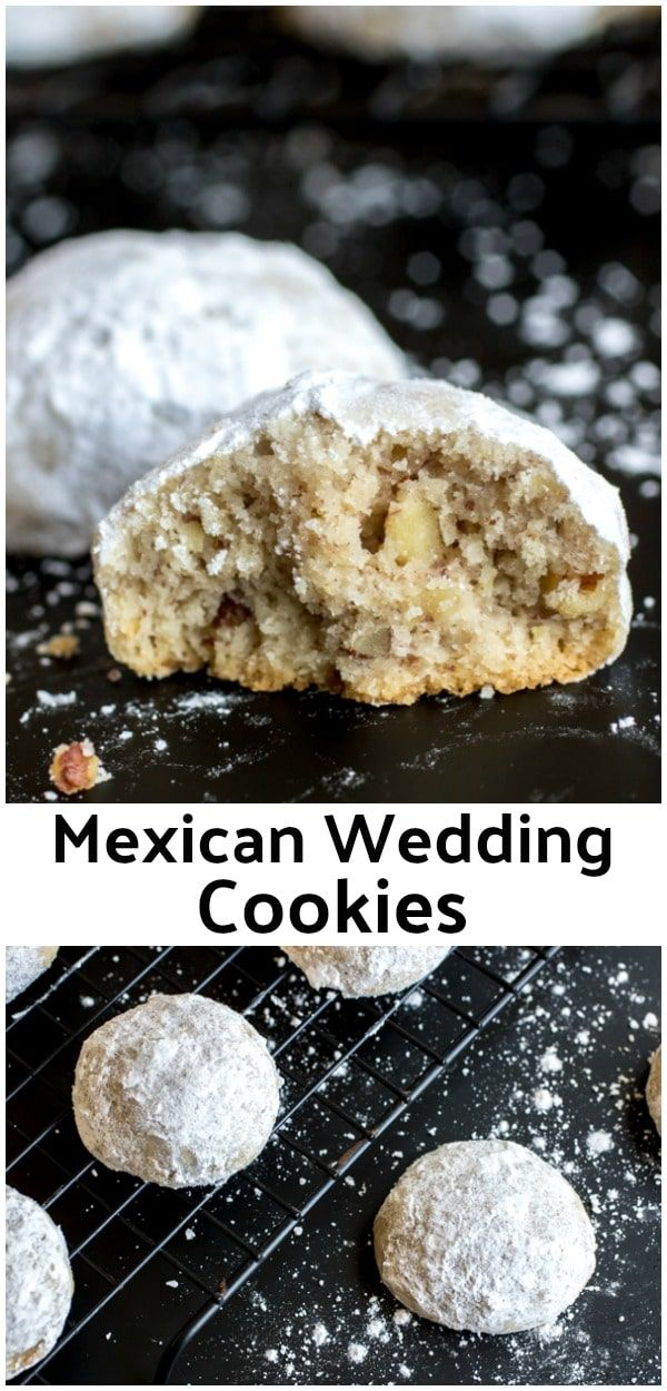 These are the BEST Mexican Wedding Cookies ! This is an authentic Mexican Wedding Cookies recipe that is a classic Christmas cookie recipe. Make these cookies for a Christmas cookie exchange. Mexican Wedding Cookies are made with finely chopped pecans and tossed in powdered sugar to make them look like delicious snowballs!