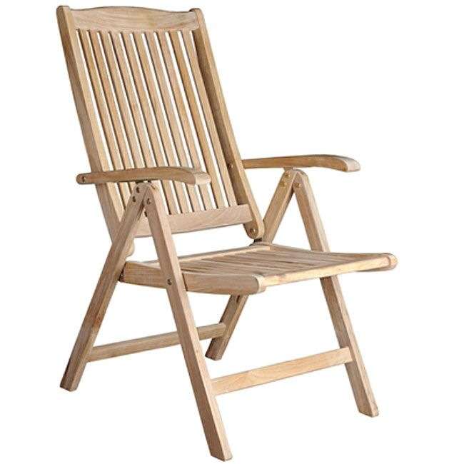 Helsinki Teak Recliner Patio Chair