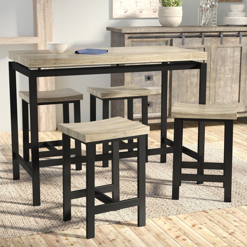 Bourges 5 Piece Pub Table Set Bourges