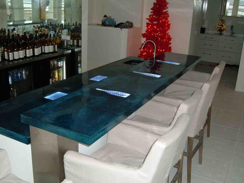 Brilliant Blue Concrete Countertops - DirectColors.com | Concrete ...