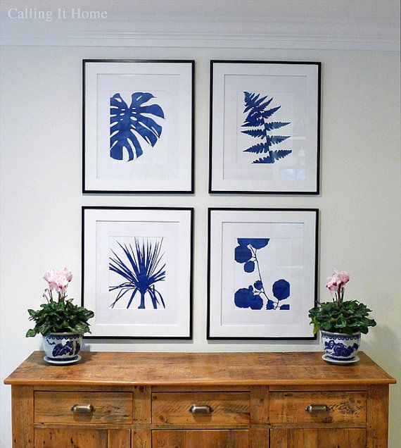 pick a pair blue and white graphic botanical prints 11x14 art pinterest bleu d co maison. Black Bedroom Furniture Sets. Home Design Ideas
