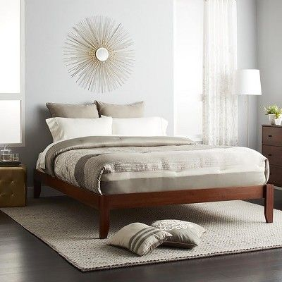 Gibraltar Solid Bamboo Wood Platform Bed Frame Epic Furnishings Muebles Casas Living