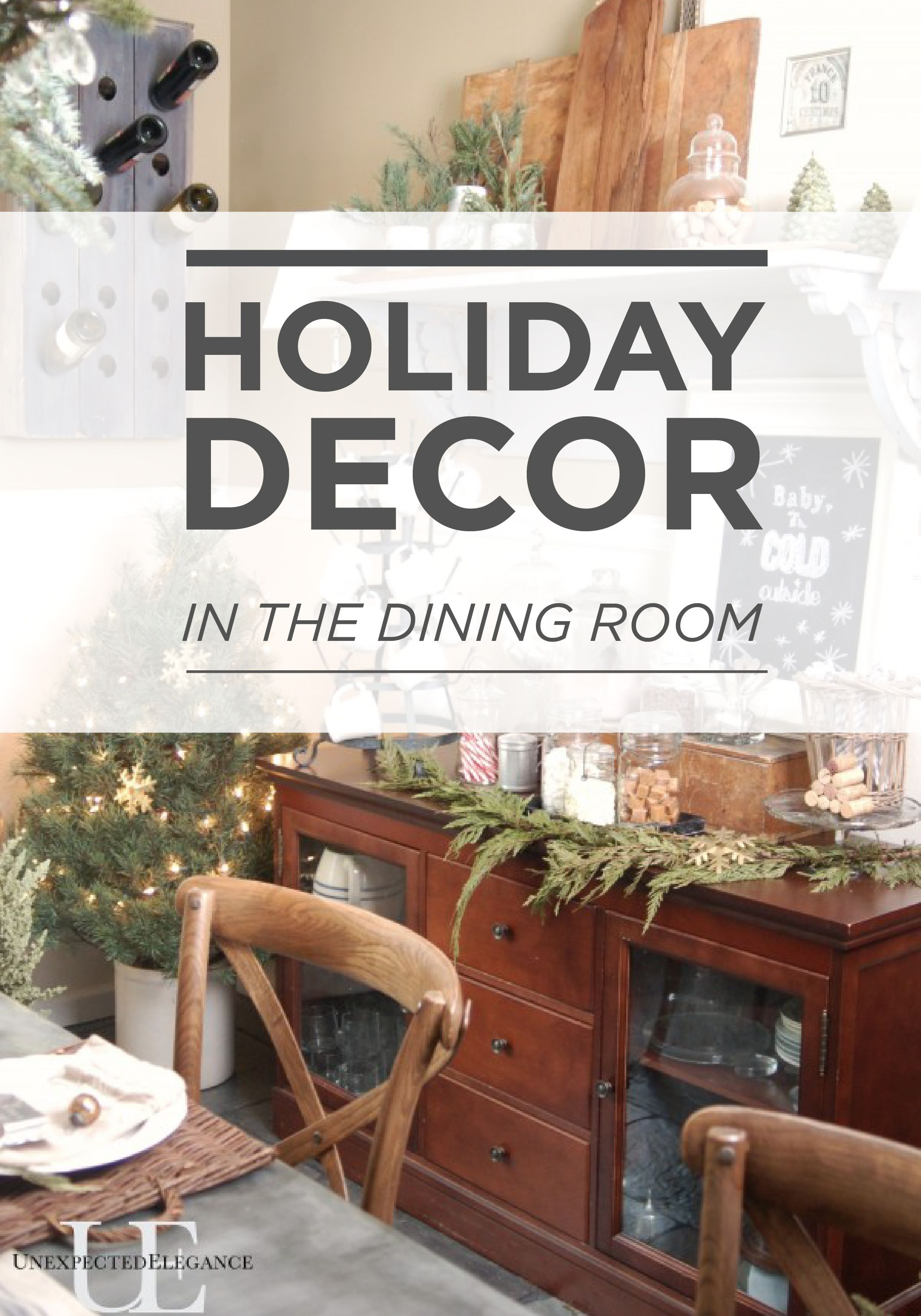 Christmas in the Dining Room | Farmhouse style