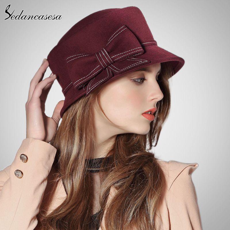 f01f507a935 Europe American Sombreros Women 100% Australian Wool Cloche Fedora Hats  Women Basin Formal Winter Autumn Derby Hat Do you want it  shop  beauty   Woman s ...