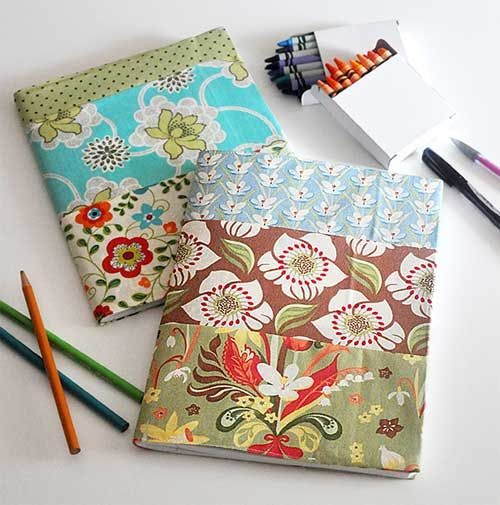 Fabric Book Covers ~ Free fabric book cover tutorials covers