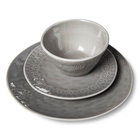 Darby Way Dinnerware Set 12-pc. Light Grey - Beekman 1802 FarmHouse™   sc 1 st  Pinterest & Darby Way Dinnerware Set 12-pc. Light Grey - Beekman 1802 ...
