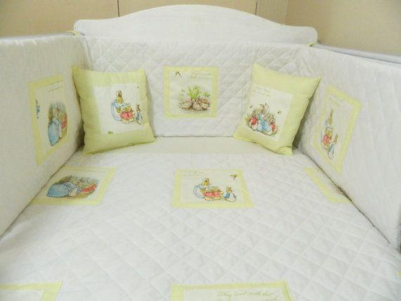 Plain Yellow Beatrix Potter Petter Rabbit Nursery Bedding Peter Quilt