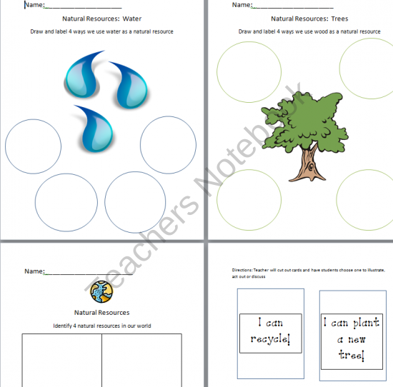 natural resources from little miss megan on 5 pages worksheets and. Black Bedroom Furniture Sets. Home Design Ideas