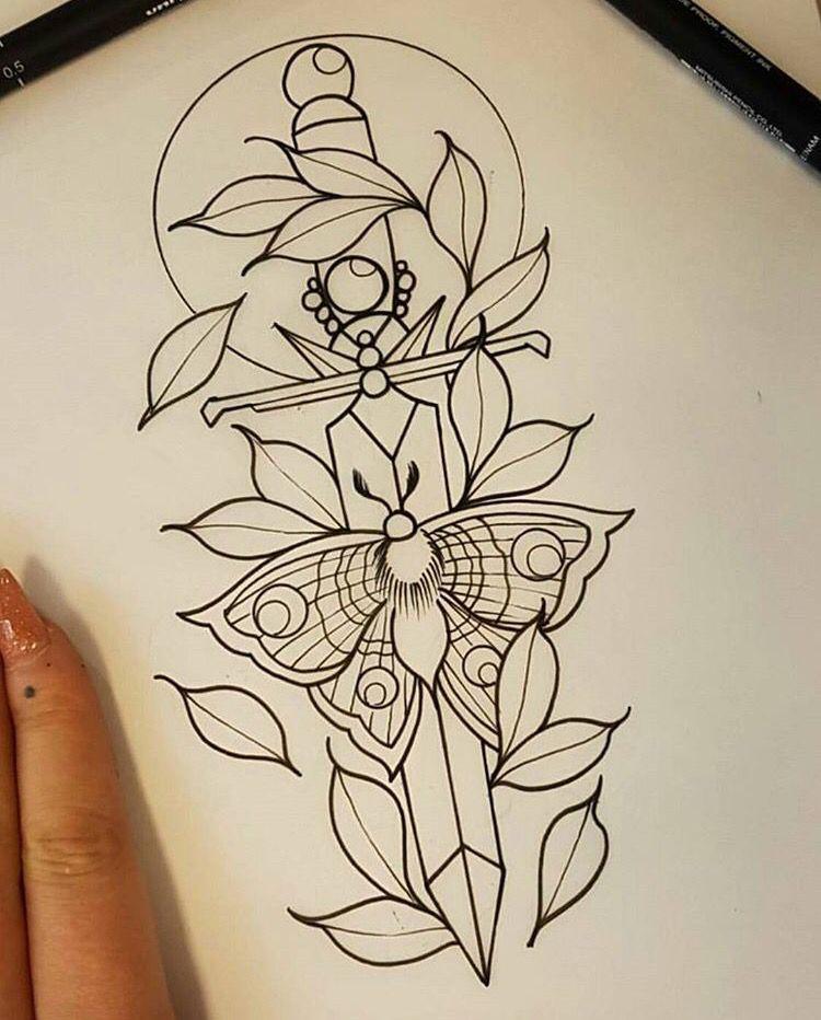 Dagger Tattoo Outline: Tattoos, Tattoo Drawings, Tattoo