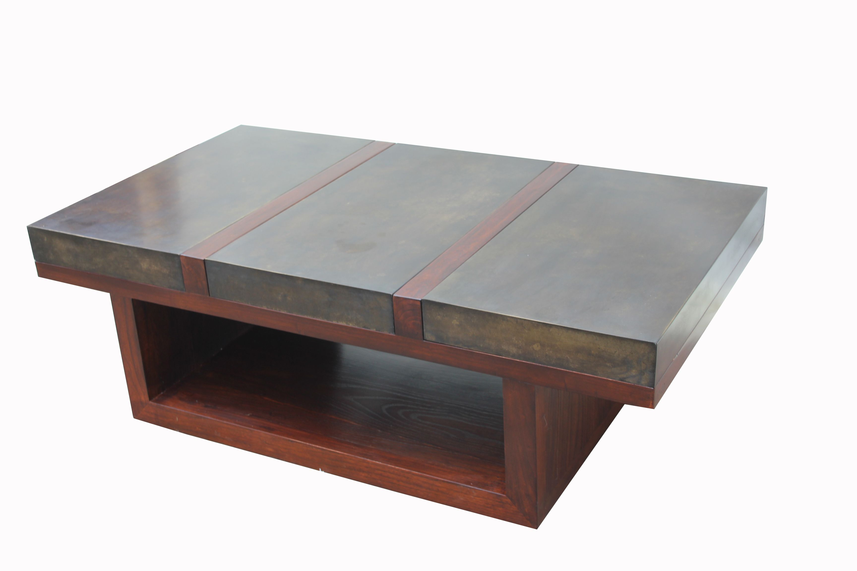 Coffee Table In Bricks And Elm Wood Coffee Table Wood Table [ 2304 x 3456 Pixel ]