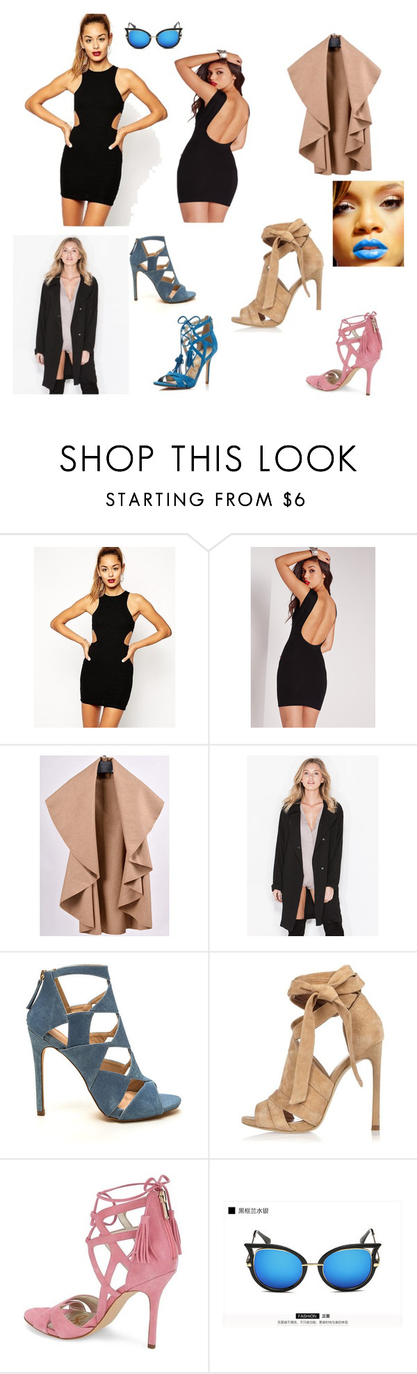 """""""Rihanna Realness"""" by themitchhilsociety on Polyvore featuring ASOS, Missguided, River Island, Sam Edelman and KOON"""