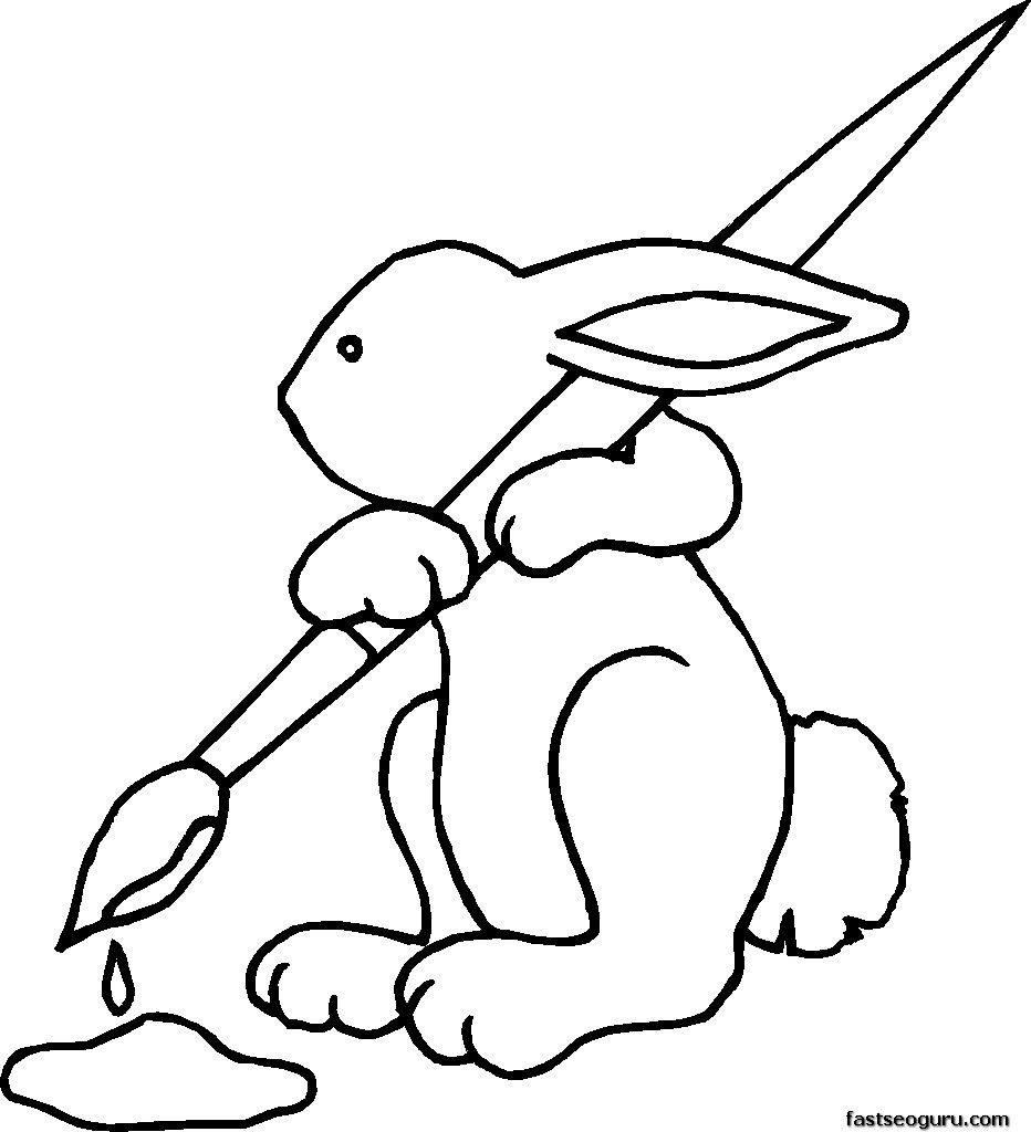 Easter Bunny Coloring Pages Printable   embroidery   Pinterest ...