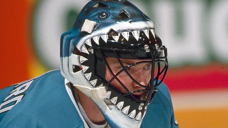 San Jose Sharks Goalie Mask Goalie Mask Goalie Hockey Goalie