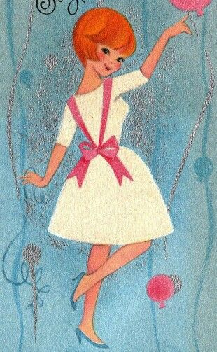 Vintage Birthday Cards Greeting Happy