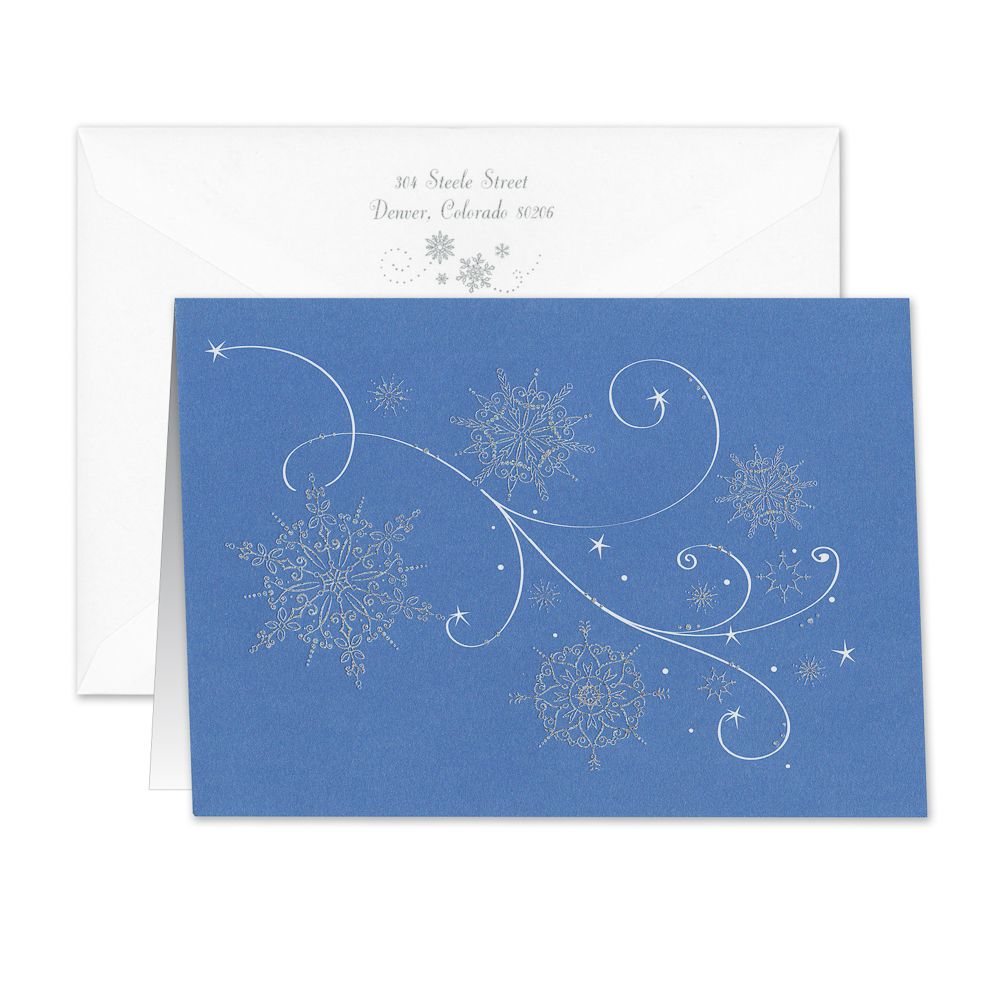Falling Snowflakes Greeting Card Delight In The Differences Of Each