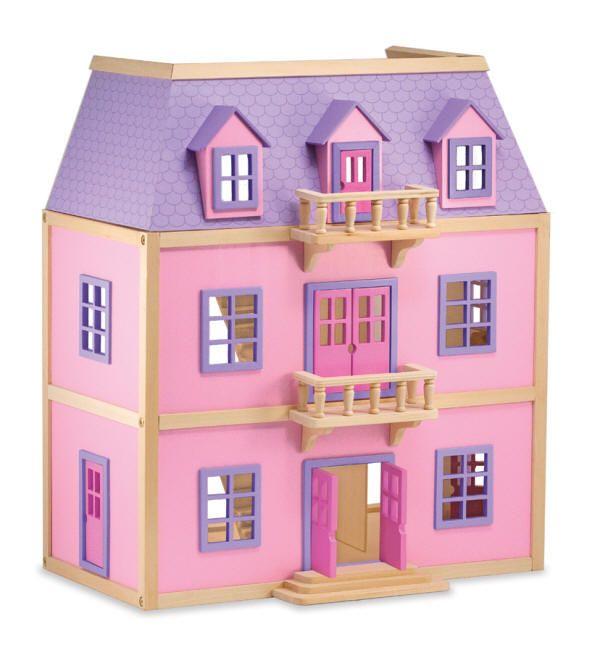 Melissa and Doug Multi Level Solid Wood Dollhouse