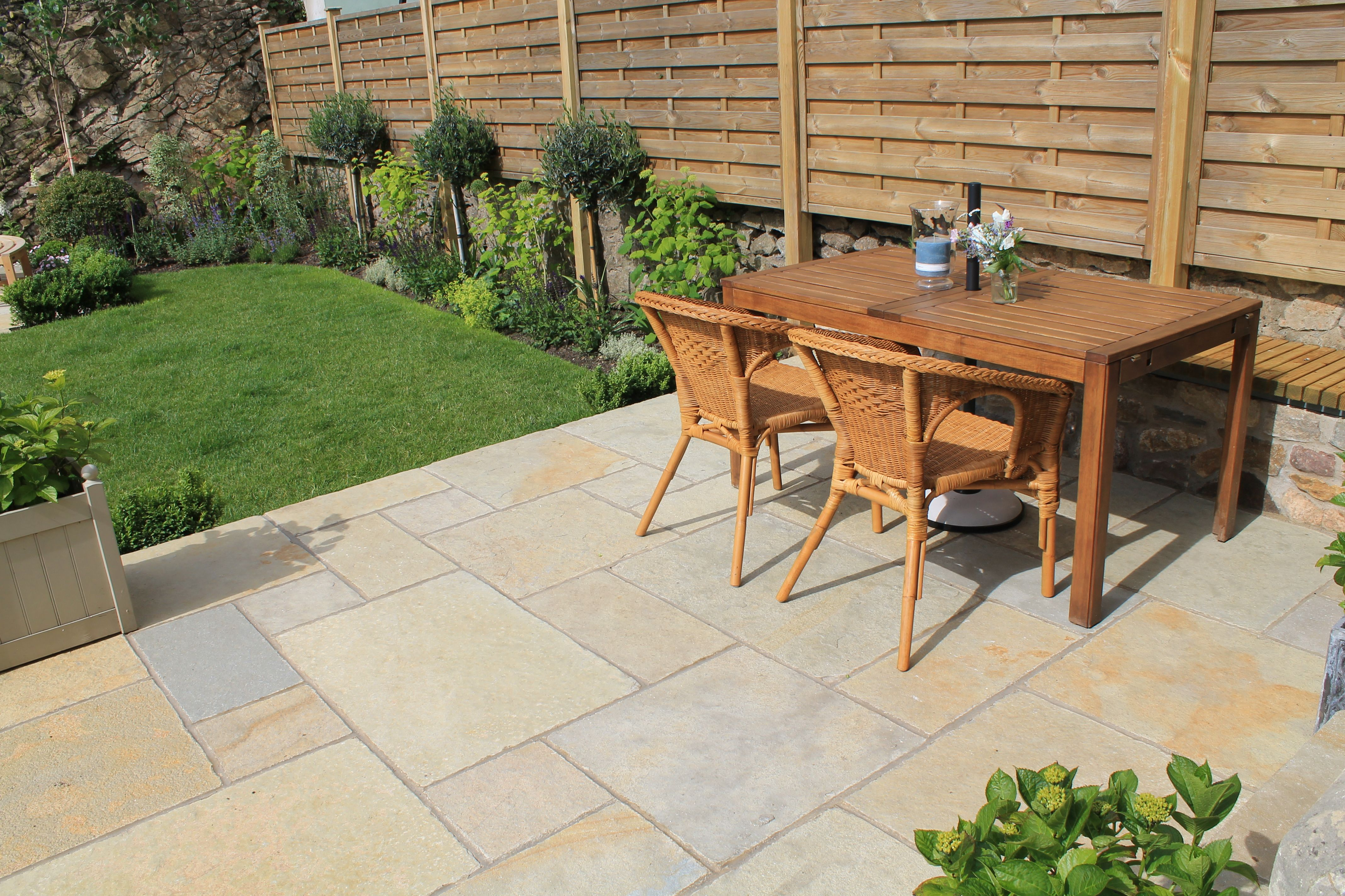 A Limestone Terrace Outside The Back Doors Has Been Extended And A
