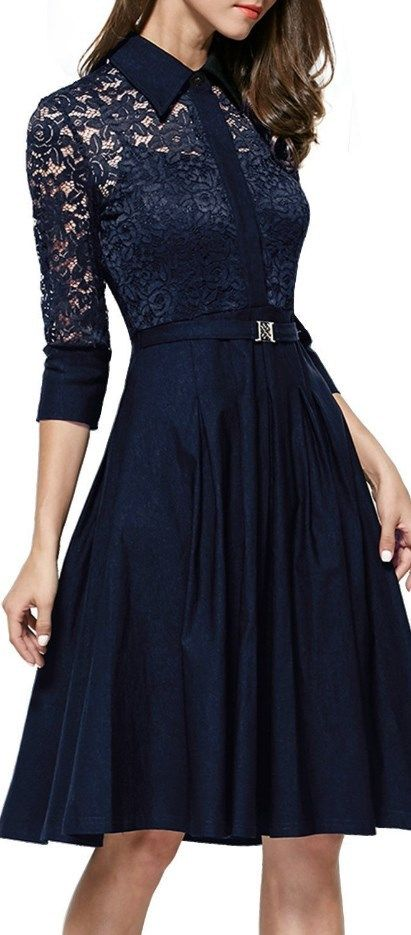 Black dress 3 4 sleeve vintage dresses