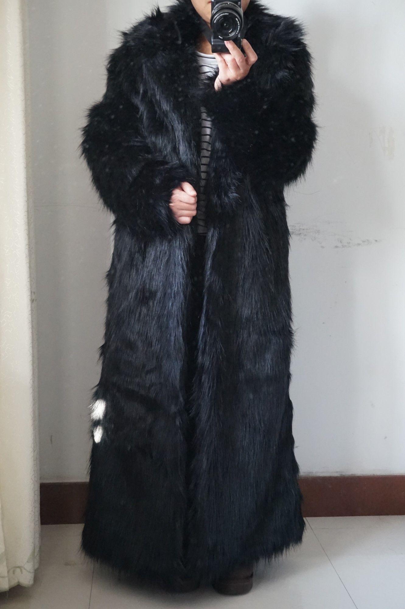 Long Faux Fox Fur Coat With Collar Women Warm Garment Furry Coats Fur Coat Faux Fox Fur Coat Coat [ 2000 x 1331 Pixel ]