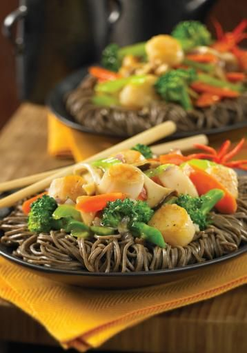 Cantonese mushroom vegetable and scallop stir fry xing bao gu chao food forumfinder Images