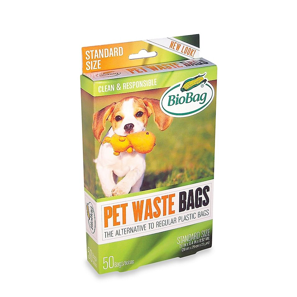 Biobag 50 Count Dog Waste Bags Blue Green Dogs Waste Pet Waste