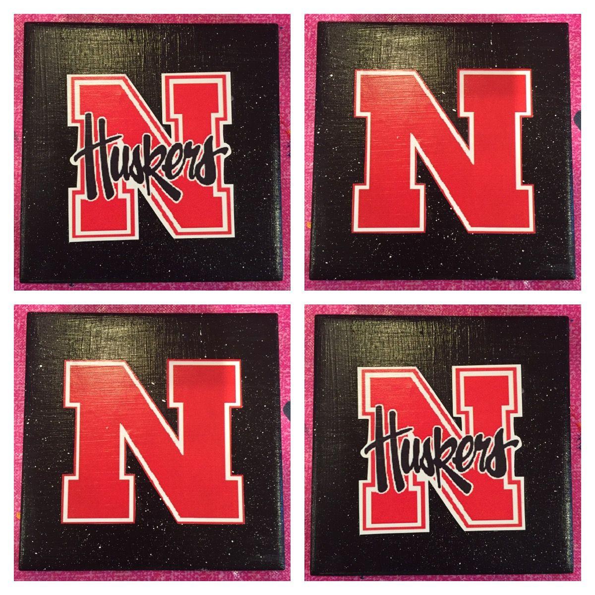 Nebraska Huskers Coasters! These coaster sets are handmade