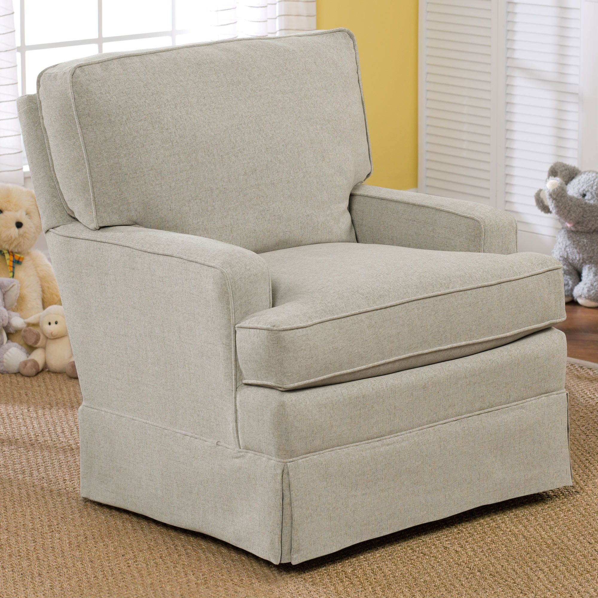 Best Chairs Charlotte Upholstered Swivel Glider Grey ...