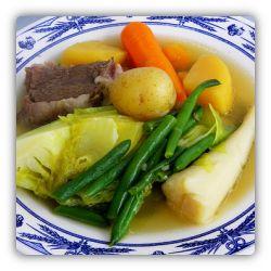 Pot au feu national food (dish) of France