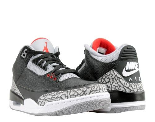 aee3e70ec81 Nike Air Jordan 3 Retro OG Black/Red-Cement Men's Basketball Shoes  854262-001, Size: 11.5, Black/Fire Red-Cement Grey