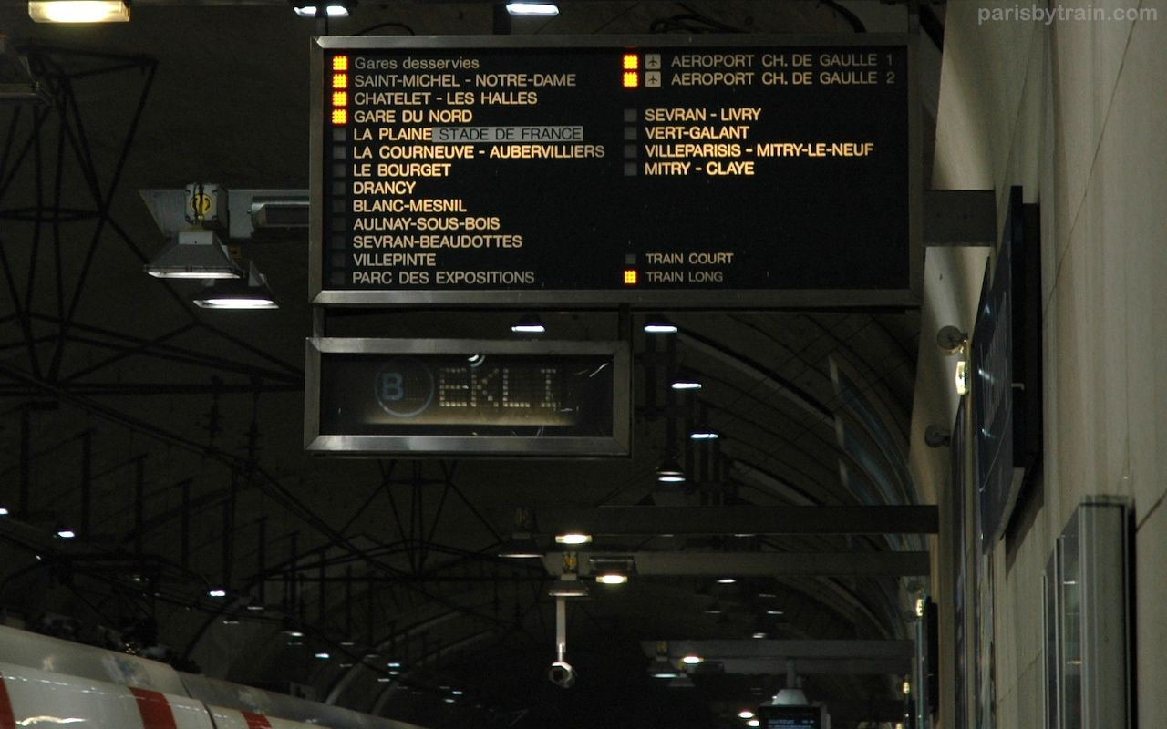RER Train from Paris to Roissy Charles de