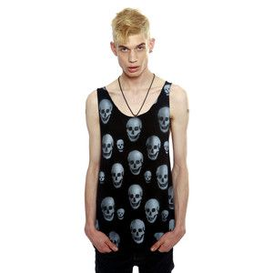 Scull Unisex Tank Black now featured on Fab.