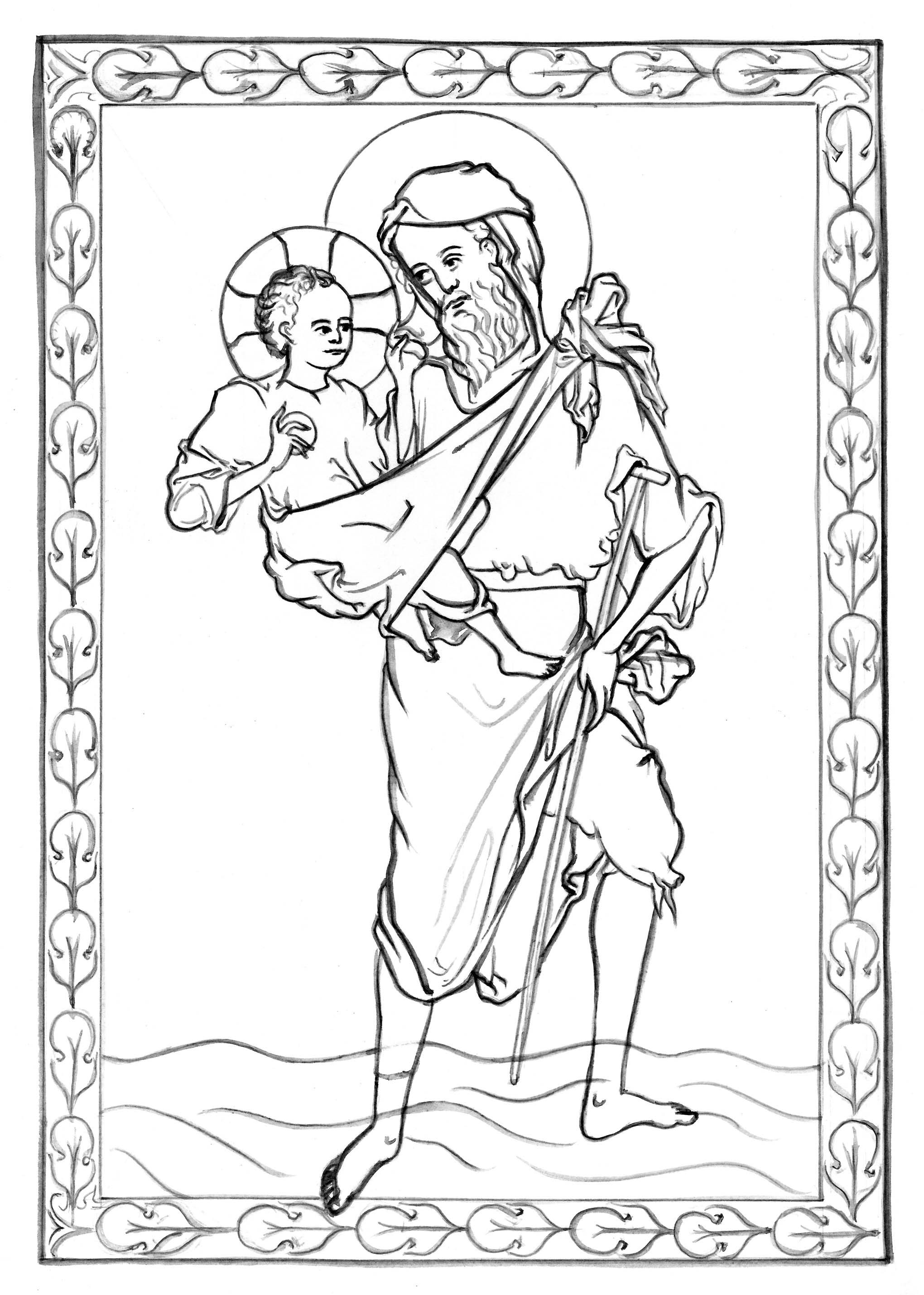 st christopher catholic religion pinterest saint christopher