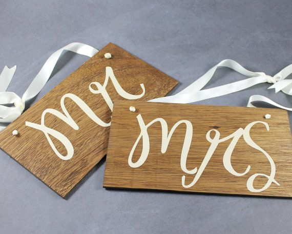 Mr and Mrs Chair Signs for Wedding Decor by EventDesignShop, $30.00