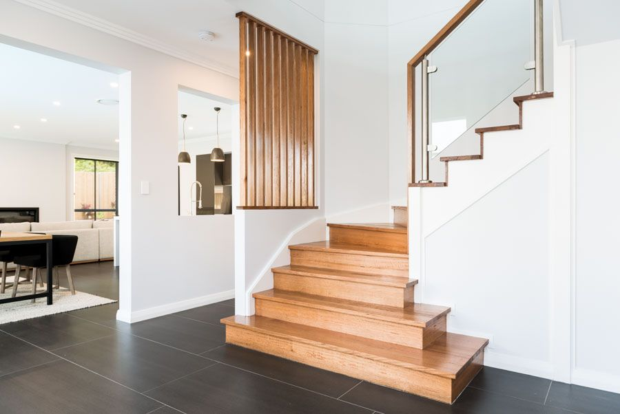 Daydream Vestibule With Victorian Ash Timber Stairs, Glass Balustrade And  Wall Cutouts Which Are Great