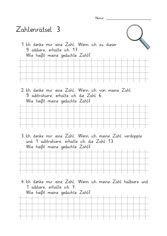 Mathematische Begriffe Grundschule Arbeitsblatt