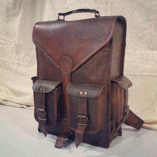 vintage sac a dos en cuir femme homme toile r glable. Black Bedroom Furniture Sets. Home Design Ideas