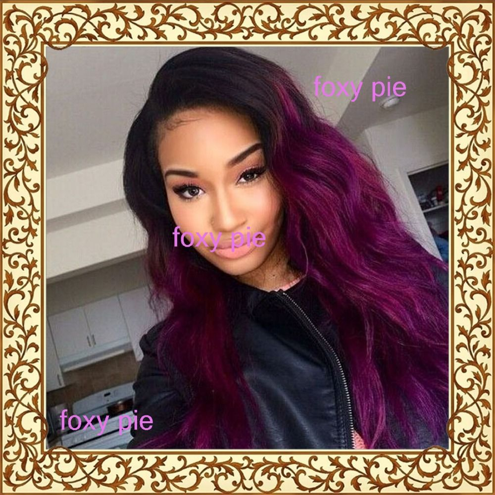 Purpleandredfashion Fashion Virgin Brazilian Ombre Lace Front