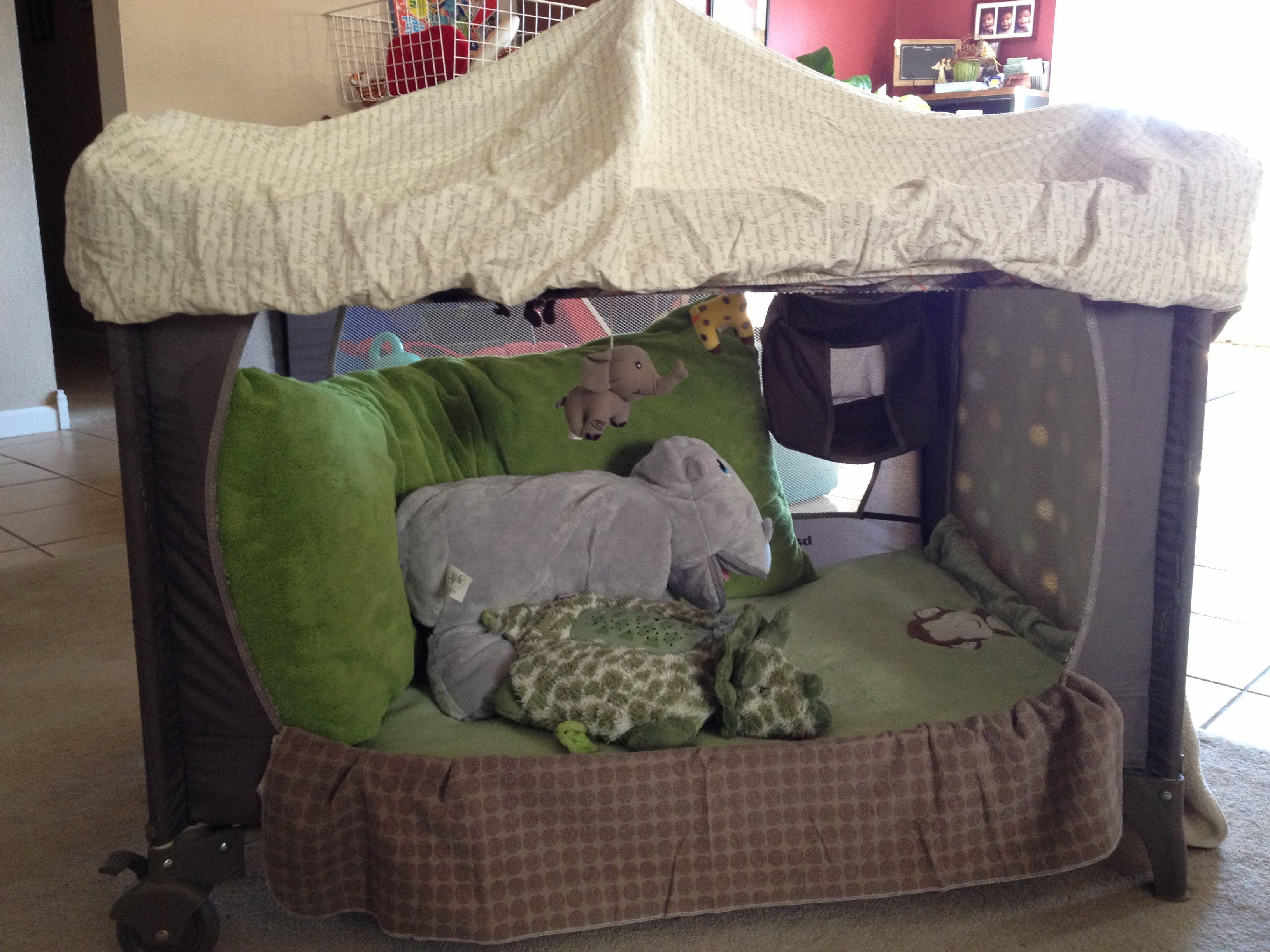 Repurposed Playpen Pack Play Toddler Bed Playpen