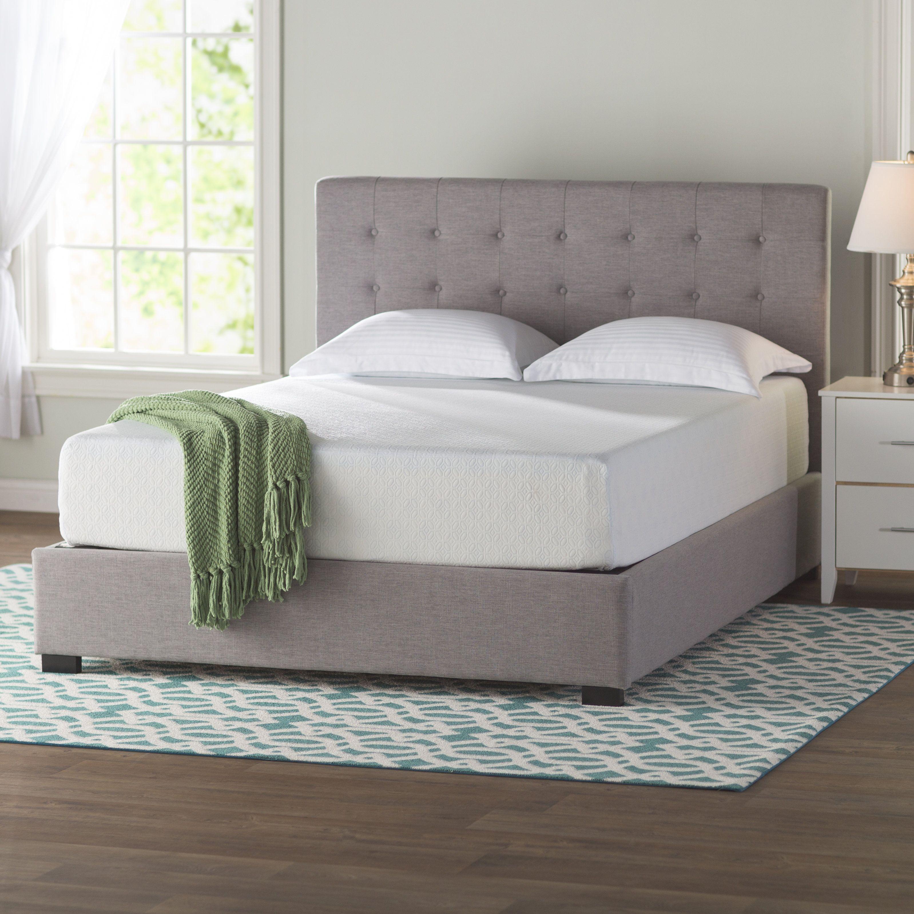 Dicus Horizontal Murphy Bed with Mattress Mattress, Foam