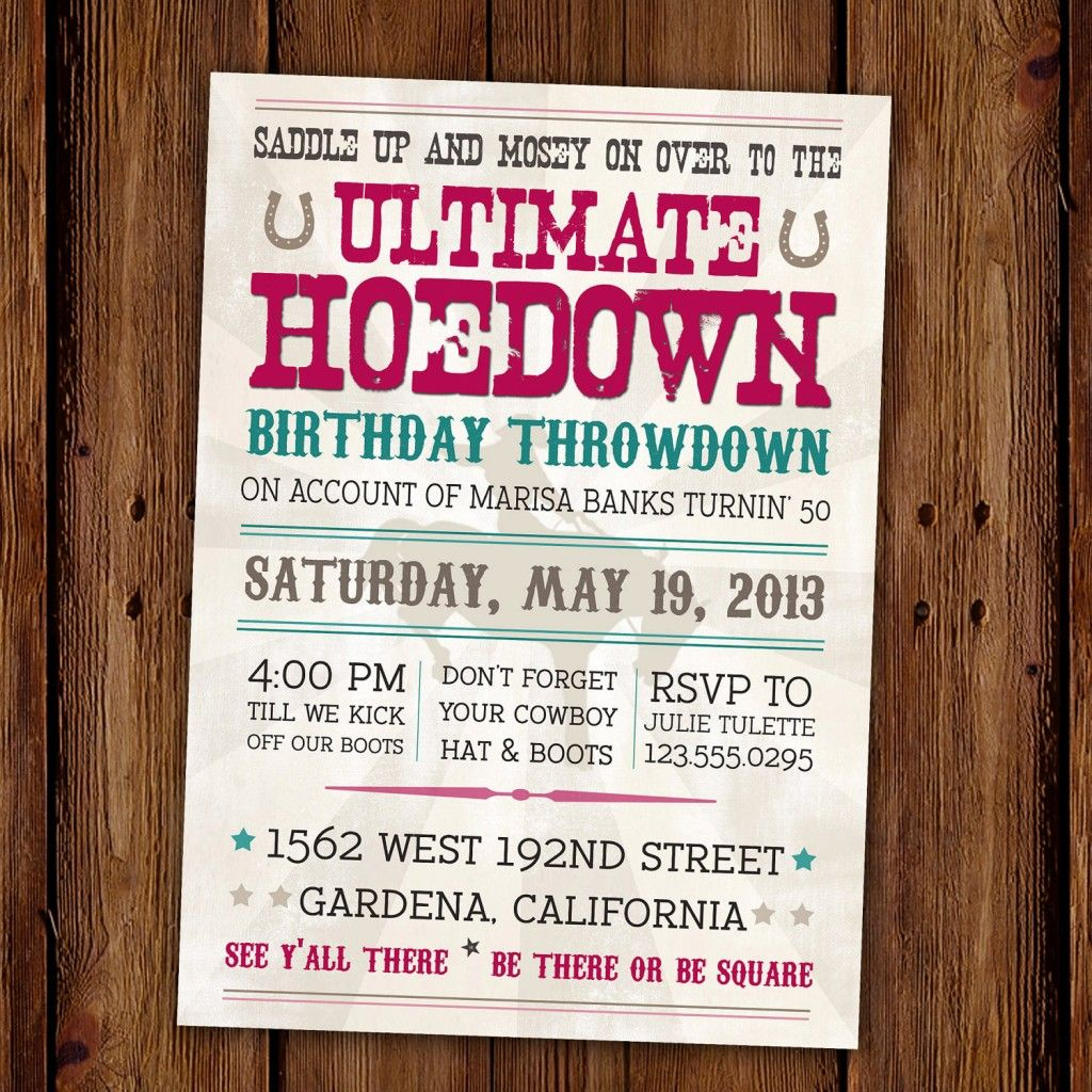 cowgirl party invitation wording FOR 3RD BIRTHDAY | Free Western ...
