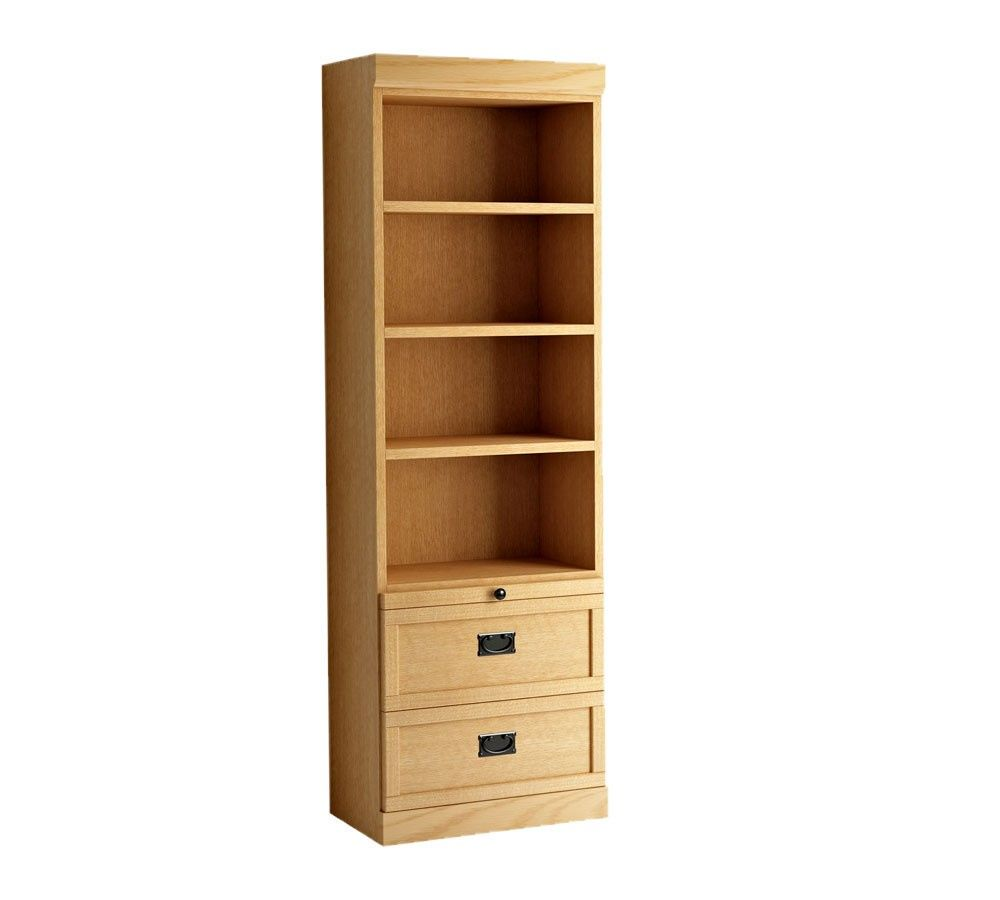 Bookcase with Drawers On Bottom Real Wood Home Office Furniture